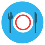 dinner icon coloured