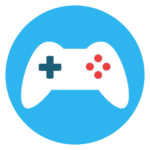playstation game icon coloured
