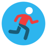 running icon coloured